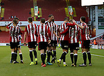 Sheffield United celebrates Harry Chapmans second goal of the game during the Emirates FA Cup Round One match at Bramall Lane Stadium, Sheffield. Picture date: November 6th, 2016. Pic Simon Bellis/Sportimage