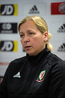 Jayne Ludlow head coach of Wales Women during the Wales Women Press Conference and Training Session at the Cardiff International Sports Stadium in Cardiff, Wales, UK. Monday 03 June 2019