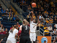 Afure Jemerigbe of California shoots the ball during the game against Stanford at Haas Pavilion in Berkeley, California on February 2nd 2014.   Stanford defeated California, 79-64.