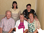 Mary Hamilton, Marion Wall, Noel and Ann Wall and Anne Wall pictured at the Duleek National school past pupils reunion at the Westcourt Hotel. Photo:Colin Bell/pressphotos.ie