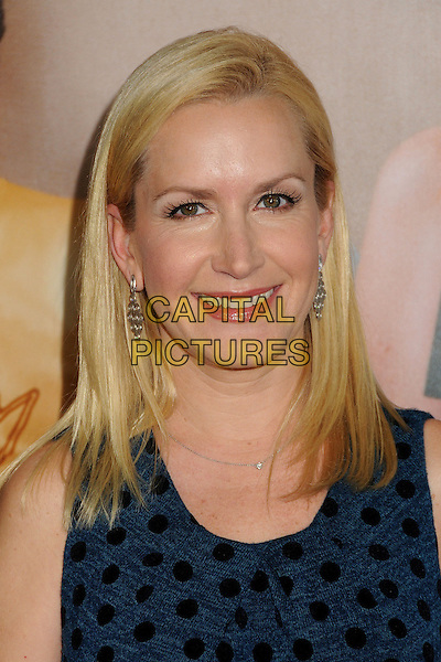 "Angela Kinsey.""This Is 40"" Los Angeles Premiere held at Grauman's Chinese Theatre, Hollywood, California, USA..December 12th, 2012.headshot portrait blue sleeveless black polka dot top .CAP/ADM/BP.©Byron Purvis/AdMedia/Capital Pictures."