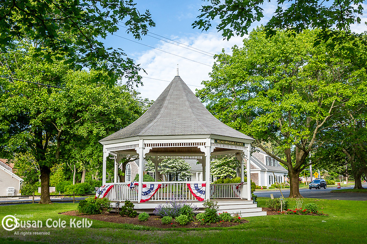Town bandstand, Dennis, Cape Cod, Massachusetts, USA