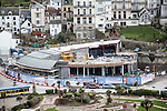 Building site construction of new Wetherspoons pub, Ilfracombe, north Devon, England in Match 2014