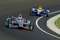 Verizon IndyCar Series<br /> Indianapolis 500 Carb Day<br /> Indianapolis Motor Speedway, Indianapolis, IN USA<br /> Friday 26 May 2017<br /> Will Power, Team Penske Chevrolet, Alexander Rossi, Andretti Herta Autosport with Curb-Agajanian Honda<br /> World Copyright: F. Peirce Williams