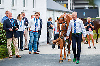 AUS-Andrew Hoy presents Vassily de Lassos during the SAP Cup CICO4*-S Nations' Cup Eventing 1st Horse Inspection. 2019 GER-CHIO Aachen Weltfest des Pferdesports. Thursday 18 July. Copyright Photo: Libby Law Photography