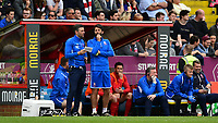 Lincoln City's assistant manager Nicky Cowley, left, and Lincoln City manager Danny Cowley<br /> <br /> Photographer Chris Vaughan/CameraSport<br /> <br /> The EFL Sky Bet League Two Play Off First Leg - Lincoln City v Exeter City - Saturday 12th May 2018 - Sincil Bank - Lincoln<br /> <br /> World Copyright &copy; 2018 CameraSport. All rights reserved. 43 Linden Ave. Countesthorpe. Leicester. England. LE8 5PG - Tel: +44 (0) 116 277 4147 - admin@camerasport.com - www.camerasport.com