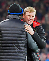 A relieved AFC Bournemouth Manager Eddie Howe at the final whistle during AFC Bournemouth vs Wigan Athletic, Emirates FA Cup Football at the Vitality Stadium on 6th January 2018