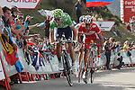 Alejandro Valverde, Joaquin Purito Rodriguez and Alberto Contador during the stage of La Vuelta 2012 between La Robla and Lagos de Covadonga.September 2,2012. (ALTERPHOTOS/Acero)