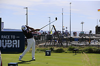Hideto Tanihara (JPN) tees off the 3rd tee during Thursday's Round 1 of the Dubai Duty Free Irish Open 2019, held at Lahinch Golf Club, Lahinch, Ireland. 4th July 2019.<br /> Picture: Eoin Clarke | Golffile<br /> <br /> <br /> All photos usage must carry mandatory copyright credit (© Golffile | Eoin Clarke)
