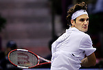 Switzerland's Roger Federer during his Madrid Masters Series tennis tournament match against Chile's Nicolas Massu at Madrid Arena, Tuesday 17 October, 2006. (ALTERPHOTOS/Alvaro Hernandez).