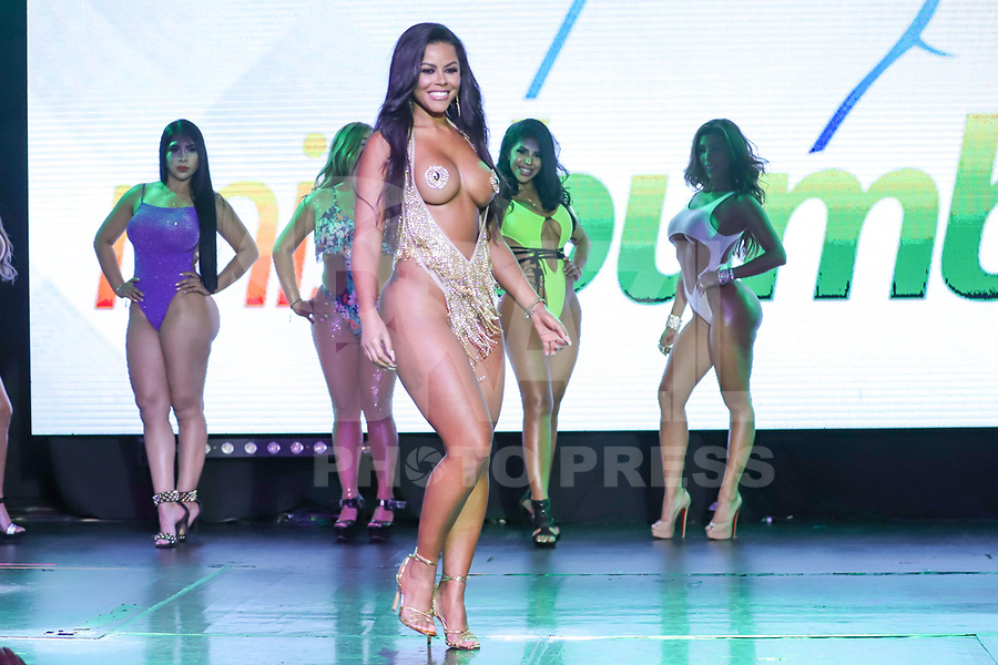 CIDADE DO MÉXICO, MÉXICO, 30.09.2019 - MISS-BUMBUM - Bruna Valentim durante a final do concurso Miss Bumbum World na  ForoTotal Play na Cidade do México na capital mexicana nesta segunda-feira, 30.  (Foto: William Volcov/Brazil Photo Press)