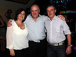 Anthony Kavanagh celebrating his 40th birthday with Brian and Fiona Kavanagh in The Bellewstown Inn. Photo: Colin Bell/pressphotos.ie