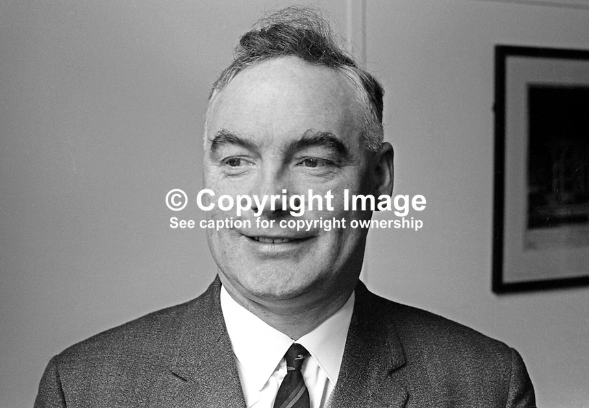 Billy Ferguson, aka William Ferguson, secretary, Glentoran FC, Belfast, N Ireland, December, 1966, 196612000074<br />