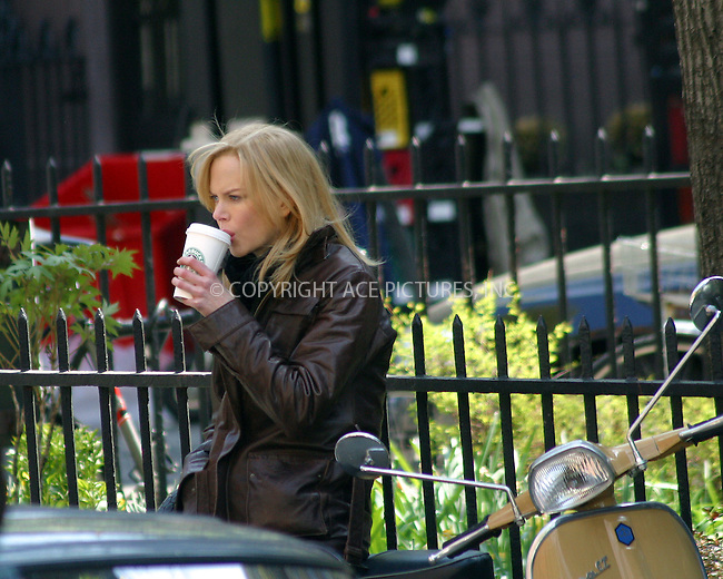 "Actress Nicole Kidman on the set of her new movie ""The Interpreter"" on location in New York City. April 21 2004. Please byline: BRIAN FLANNERY/ ACE Pictures.   ..*PAY-PER-USE*      ....IMPORTANT: Please note that our old trade name, NEW YORK PHOTO PRESS (NYPP), is replaced by our new name, ACE PICTURES. New York Photo Press and ACE Pictures are owned by All Celebrity Entertainment, Inc.......All Celebrity Entertainment, Inc:  ..contact: Alecsey Boldeskul (646) 267-6913 ..Philip Vaughan (646) 769-0430..e-mail: info@nyphotopress.com"