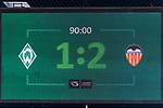 05.08.2017, Weserstadion, Bremen, GER, FSP, SV Werder Bremen (GER) vs FC Valencia (ESP)<br /> <br /> im Bild<br /> Anzeigetafel / Endstand, Feature<br /> <br /> Foto &copy; nordphoto / Ewert