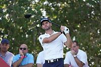 Adri Arnaus (ESP) on the 17th tee during Round 3 of the Abu Dhabi HSBC Championship at the Abu Dhabi Golf Club, Abu Dhabi, United Arab Emirates. 18/01/2020<br /> Picture: Golffile | Thos Caffrey<br /> <br /> <br /> All photo usage must carry mandatory copyright credit (© Golffile | Thos Caffrey)