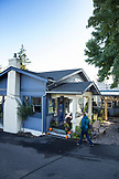 USA, Oregon, Ashland, exterior of the Morning Glory Restaurant on Siskiyou Blvd