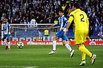 League Santander 2017-2018 - Game: 24.<br /> RCD Espanyol vs Villarreal CF: 1-1.<br /> Esteban Granero vs Mario Gaspar.