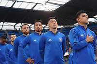 SAN JOSE, CA - MARCH 7: Danny Hoesen #9, Vako #11, Guram Kashia #37, Andy Rios #25, Cristian Espinoza #10, and Nick Lima #24 of the San Jose Earthquakes during a game between Minnesota United FC and San Jose Earthquakes at Earthquakes Stadium on March 7, 2020 in San Jose, California.