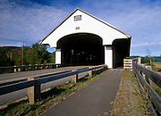 Smith Covered Bridge. Crosses the Baker  River in Plymouth, New Hampshire, USA