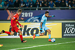 Jiangsu FC Forward Alex Teixeira (R) in action during the AFC Champions League 2017 Group H match between Jiangsu FC (CHN) vs Adelaide United (AUS) at the Nanjing Olympics Sports Center on 01 March 2017 in Nanjing, China. Photo by Marcio Rodrigo Machado / Power Sport Images
