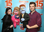 """Veronica J. Kuehn and Matt Dengler during """"Avenue Q"""" Celebrates World Puppetry Day at The New World Stages on 3/21/2019 in New York City."""