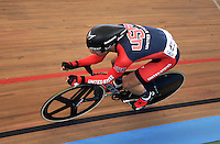 CALI – COLOMBIA – 17-01-2015: Jacob Duehring de Estados Unidos en la prueba de Velocidad hombres en el Velodromo Alcides Nieto Patiño, sede de la III Copa Mundo UCI de Pista de Cali 2014-2015  / Jacob Duehring of United States in the Men´s Sprint Race at the Alcides Nieto Patiño Velodrome, home of the III Cali Track World Cup 2014-2015 UCI. Photos: VizzorImage / Luis Ramirez / Staff.