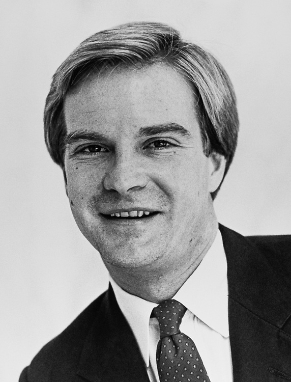 Close-up of Rep. Bill Schuette, R-Mich., in March 1985. (Photo by CQ Roll Call)