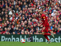 7th March 2020; Anfield, Liverpool, Merseyside, England; English Premier League Football, Liverpool versus AFC Bournemouth; Fabinho of Liverpool runs with the ball