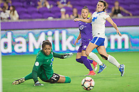 Orlando, FL - Saturday June 03, 2017: Camila, Brooke Elby during a regular season National Women's Soccer League (NWSL) match between the Orlando Pride and the Boston Breakers at Orlando City Stadium.