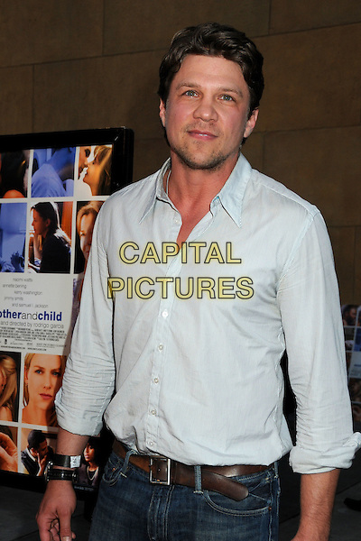 "MARC BLUCAS .""Mother and Child"" Los Angeles Premiere held at Grauman's Egyptian Theatre, Hollywood, California, USA..April 19th, 2010.half length shirt white blue stubble facial hair .CAP/ADM/BP.©Byron Purvis/AdMedia/Capital Pictures."
