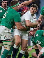 Ben Youngs tackled by CJ Stander, England v Ireland in a 6 Nations match at Twickenham Stadium, Whitton Road, Twickenham, England, on 27th February 2016