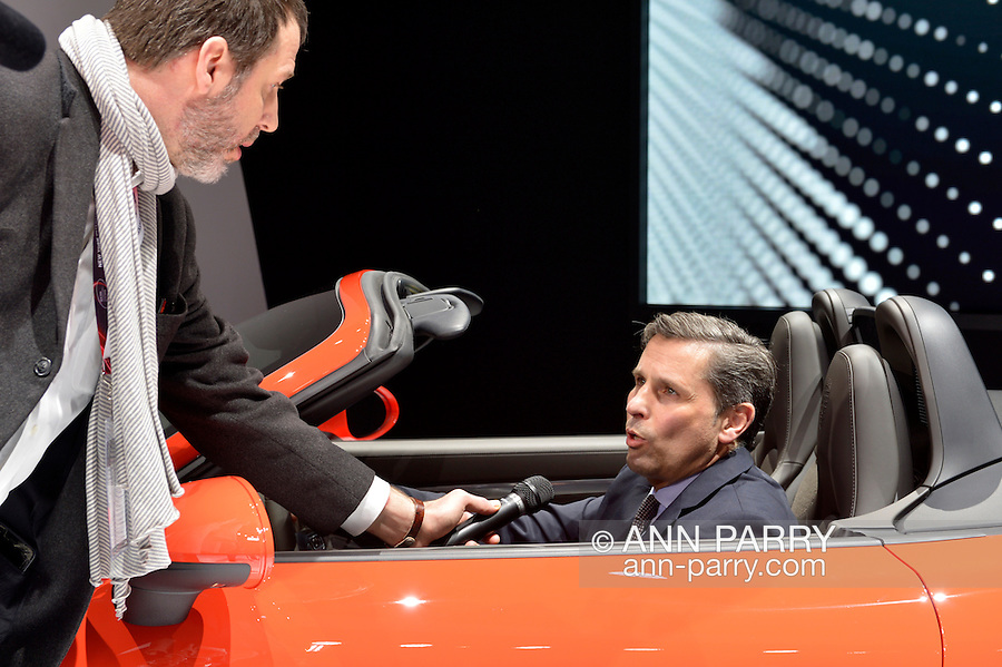 KLAUS ZELLMER, President and CEO of Porsche Cars North America, is interviewed after introducing the Porsche 718 Boxster S, which made its North American premiere at the New York International Auto Show 2016, at the Jacob Javits Center. This was Press Preview Day one of NYIAS, and the Trade Show will be open to the public for ten days, March 25th through April 3rd.