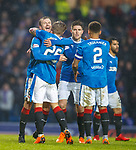 4.3.2018: Rangers v Falkirk Scottish Cup QF<br /> Jason Cummings and Andy Halliday