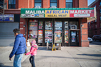 Maliba African Market in Harlem in New York on Sunday, November 23, 2014. (© Richard B. Levine)