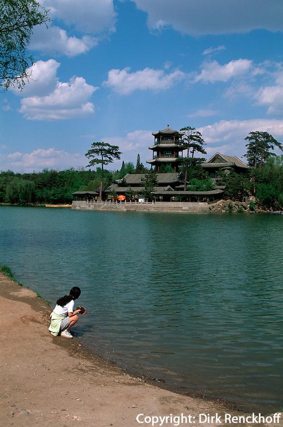 Sommerpalast, Goldhügel mit Jinshan-Tempel, Chengde, China, Unesco-Weltkulturerbe