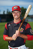 Batavia Muckdogs Aaron Knapp (5) poses for a photo before a game against the West Virginia Black Bears on June 30, 2016 at Dwyer Stadium in Batavia, New York.  Batavia defeated West Virginia 4-3.  (Mike Janes/Four Seam Images)