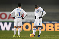 Inter players Lautaro Martinez and Mauro Icardi look dejected during the Serie A 2018/2019 football match between Chievo Verona and Inter at stadio Bentegodi, Verona, December 22, 2018 <br />  Foto Daniele Buffa / Image Sport / Insidefoto