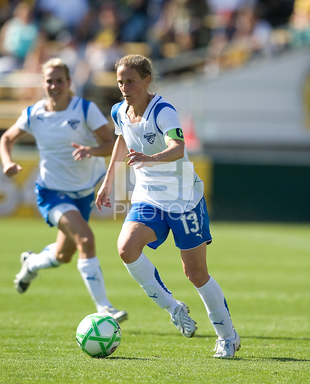 Kristine Lilly. FC Gold Pride defeated the Boston Breakers, 2-1, in their home opener on April 5, 2009 at Buck Shaw Stadium in Santa Clara, CA.