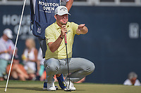 Robert Garrigus (USA) lines up his putt on 18 during round 4 of the Houston Open, Golf Club of Houston, Houston, Texas. 4/1/2018.<br /> Picture: Golffile | Ken Murray<br /> <br /> <br /> All photo usage must carry mandatory copyright credit (&copy; Golffile | Ken Murray)