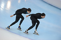SPEEDSKATING: SOCHI: Adler Arena, 20-03-2013, Training, Heather Richardson (USA), Brittany Bowe (USA), © Martin de Jong