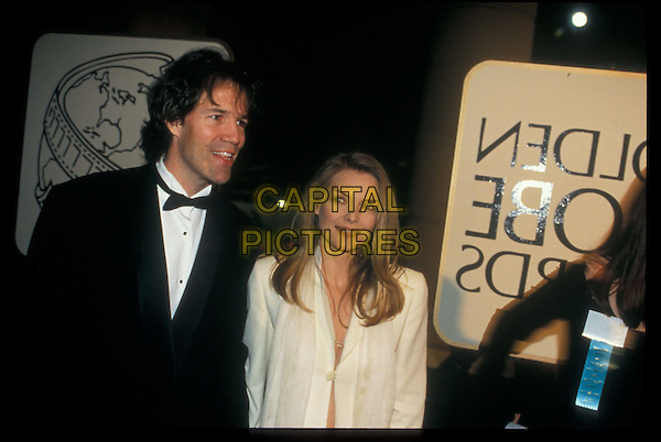 MICHELLE PFEIFFER & husband DAVID E.KELLEY.Golden Globe Awards.Ref: 043.half length, half-length.*RAW SCAN- photo will be adjusted for publication*.www.capitalpictures.com.sales@capitalpictures.com.©Capital Pictures