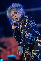 Diane Dufresne performs at the St-Jean show on the Plains of Abraham in Quebec City during the Fête nationale du Quebec, Thursday June 23, 2016. St-Jean Baptist is Quebec National day and is traditionally celebrated on the Plains of Abraham with a concert and a huge fire.