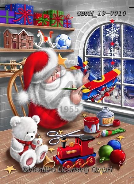 Roger, CHRISTMAS SANTA, SNOWMAN, WEIHNACHTSMÄNNER, SCHNEEMÄNNER, PAPÁ NOEL, MUÑECOS DE NIEVE, paintings+++++,GBRM19-0010,#x#