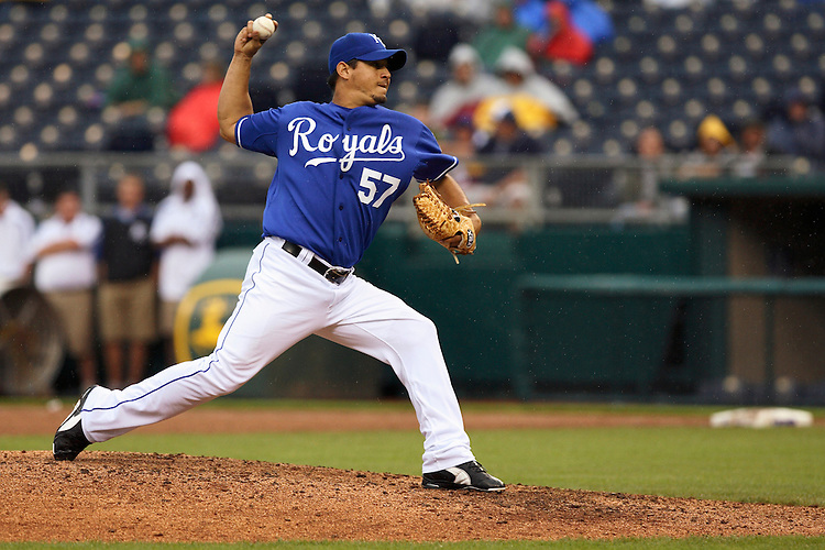 Royals RHP Joel Peralta in action against Detroit at Kauffman Stadium in Kansas City, Missouri on May 6, 2007.  The Tigers won 13-4.