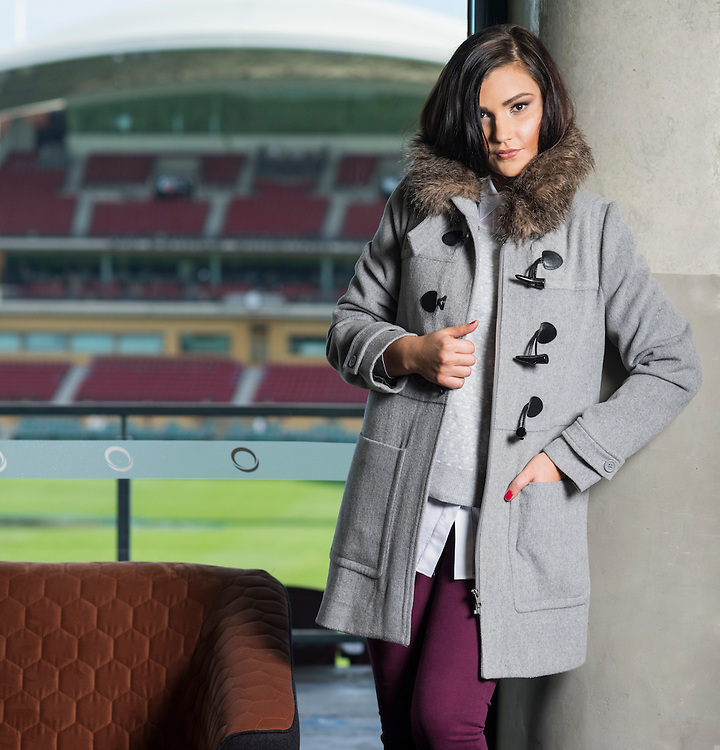 Sunday, Fashion with Mirella, What to wear to the football at Adelaide Oval. Photo: Nick Clayton