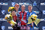 CHATTANOOGA, TN - SEPTEMBER 9:  Women's Professional Podium (L-R) 2nd Place Emma Pallant of Great Britain, 1st Place Daniela Ryf of Switzerland, and 3rd Place Laura Philipp of Germany during the the Women's IRONMAN 70.3 St. World Championships on September 9, 2017 in Chattanooga, Tennessee. (Photo by Donald Miralle for Ironman)