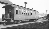 #202 baggage &amp; coach combine at Durango.<br /> D&amp;RGW  Durango, CO  Taken by Dunscomb, Guy L. - 5/5/1942