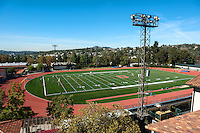 Occidental College, view of Patterson Field from the JSC bell tower, November 4, 2010, Los Angeles. (Photo by Marc Campos, College Photographer)