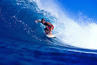 Surfer Ian Walsh surfing at Honolua Bay on Maui